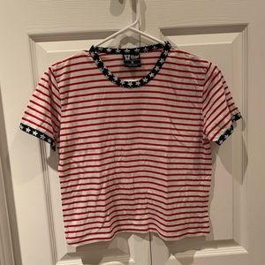 4th of July cropped shirt!